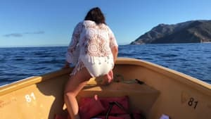 Girl in bikini slips and falls off boat