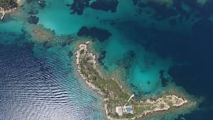 Drone footage captures exotic turquoise islands in Halkidiki, Greece