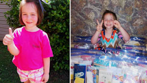 Girl makes 'blessing bags' to help the homeless