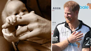 Prince Harry and Meghan share sweet photo of baby