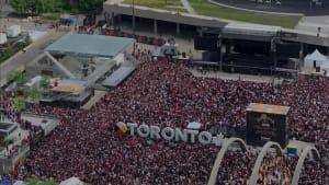 Raptors' Fandemonium Brings Toronto To A Standstill