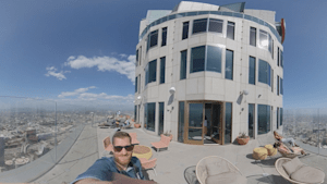 Here's a 360 degree view from the Los Angeles Skyspace