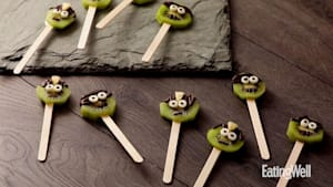 How to make Frankenstein kiwi pops