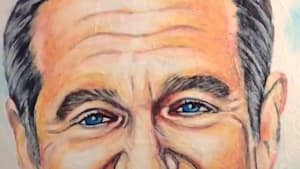 Amazing portrait of Robin Williams made solely from toothpaste