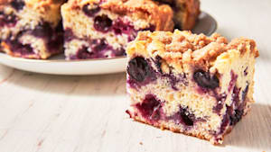 This blueberry buckle is our newest summer fave