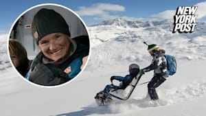 Wheelchair-bound mom proves anything is possible with skiing trip