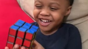 Genius three-year-old solves his first Rubik's Cube