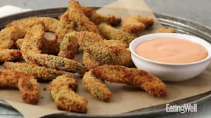 How to make avocado fries with sriracha aioli