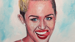 This artist creates portraits made entirely out of toothpaste