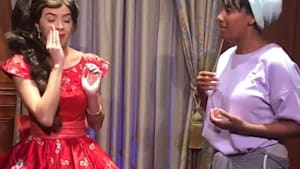 Disney princess surprises deaf guest with sign language during heartwarming moment
