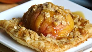 These hasselback peach tarts are equally delicious as beautiful