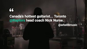 Raptors Coach Hits The Stage With Arkells