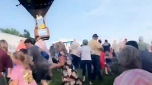 Hot air balloon crashes at Missouri festival
