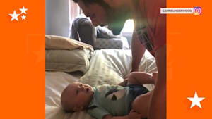 Carrie Underwood serenadea 5-month-old son