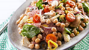 This antipasto chickpea salad is meal prep gold