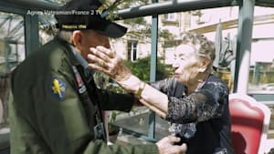 World War II veteran reunites with French love 75 years after meeting