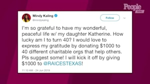Mindy Kaling donates $40K to charities