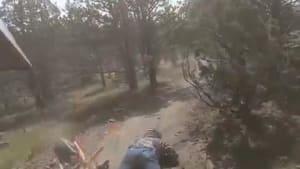 Man faceplants off mini bike