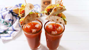 All Bloody Marys should be garnished with a taco