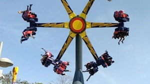 Thrill ride spins you 360 degrees while in the air