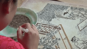 This art is made entirely with cereal