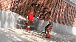 Kid shows good sportsmanship off the court