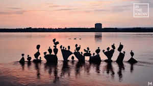 Artists' placements of rocks make beautiful scenes