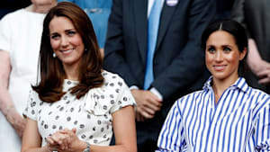 Meghan Markle, Kate Middleton brings kids to match