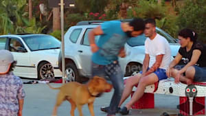 Pranksters trick people by tripping over nothing