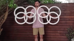 Watch this mesmerizing circus trick