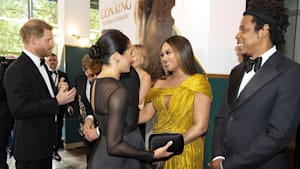 Meghan Markle & Beyonce on 'Lion King' red carpet