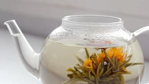 These flowers bloom in your tea