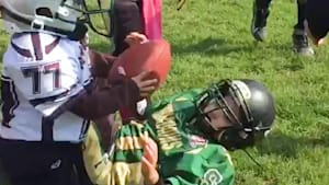 6-year-old with Down syndrome scores a touchdown