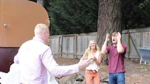 Guy travels from Australia to surprise best friend