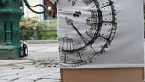 Artists use manhole covers as printing presses