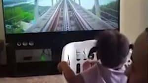 Dad made a virtual roller coaster for his daughter