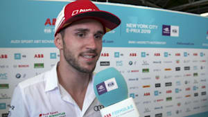 Formula E in New York City - Daniel Abt - Post race