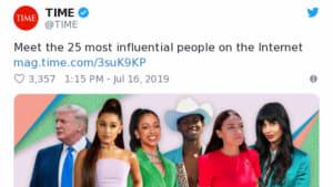 'Time' hat gewählt: Die einflussreichsten Promis im Netz