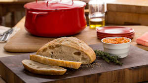 Homemade Bread with Tomato Butter