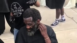 Barber Academy gives free haircuts to the homeless