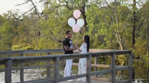 Gender reveal turns into surprise proposal