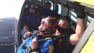 100-year-old veteran goes sky diving