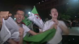 Fans celebrate in Algeria after Cup of Nations win