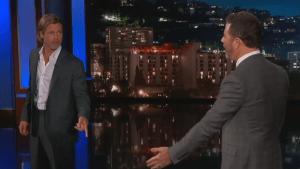 Brad Pitt, Leonardo DiCaprio crash 'Kimmel' taping