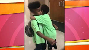 Sweet kids' emotional goodbye on last day of camp