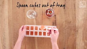Keep it cool with these genius ice cubes made out of rosé itself!