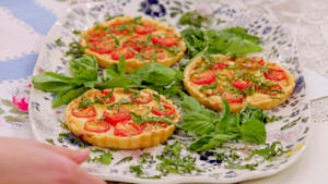 Tomato and cheddar tartlets