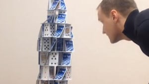 Pro card stacker makes incredible structures