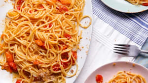 Tomato and anchovy pasta