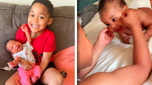 Little boy serenades baby sister with Beyonce